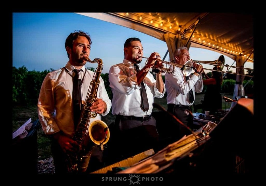 Chicago Wedding Band | Horn section performing