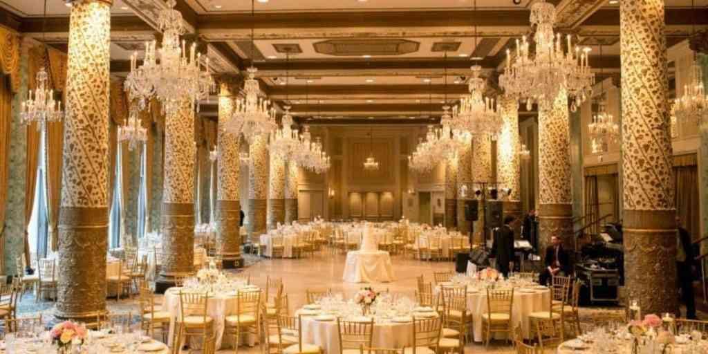 Drake Hotel wedding setup