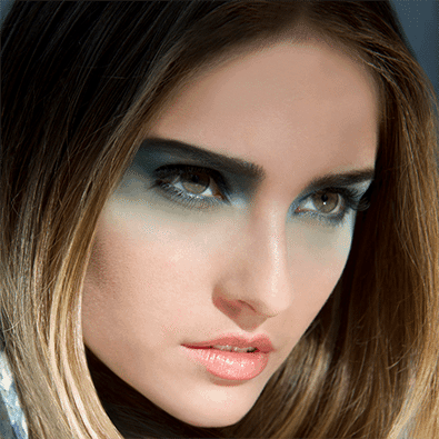 Woman with eyeshadow
