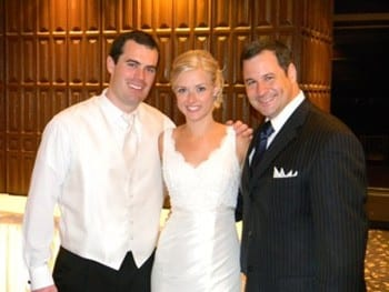 David with Bride and Groom