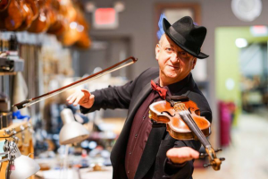 Alex Koffman playing violin